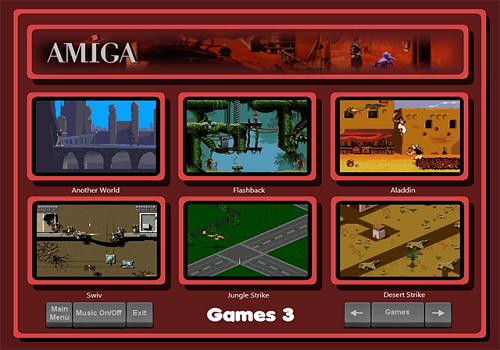 Capture d'écran Amiga Arcade Launcher