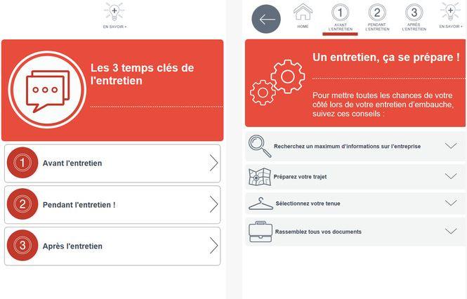 Capture d'écran Entretien – Pôle Emploi iOS