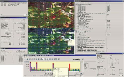 Capture d'écran Elecard StreamEye Studio