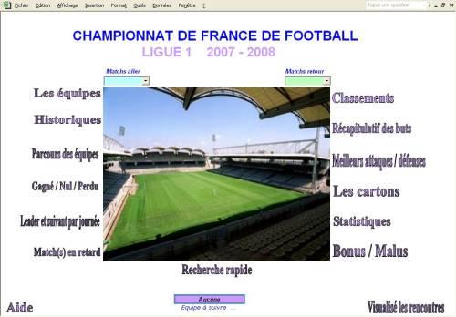 Capture d'écran Ligue1 2007-2008