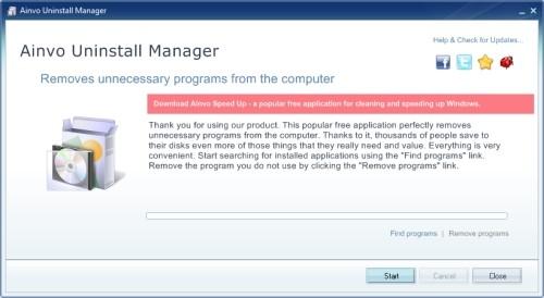 Capture d'écran Ainvo Uninstall Manager