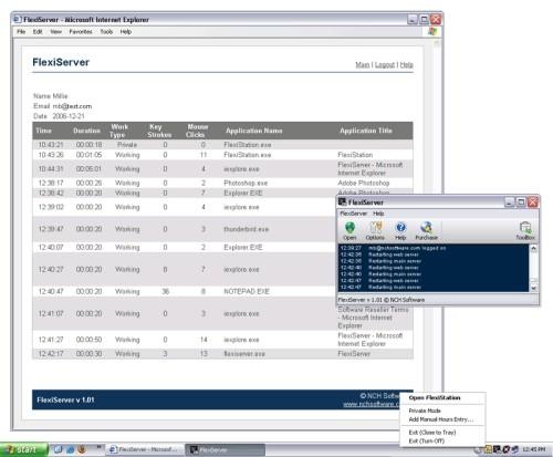 Capture d'écran Flexi-Station Employee Management