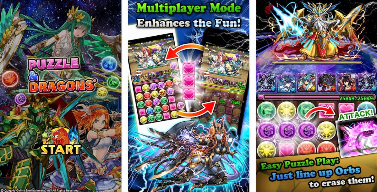 Capture d'écran Puzzle and Dragons Android