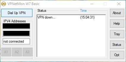 Capture d'écran VPNetMon