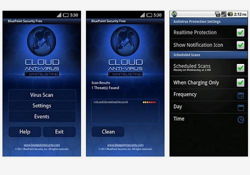 Capture d'écran BluePoint Antivirus Free Android