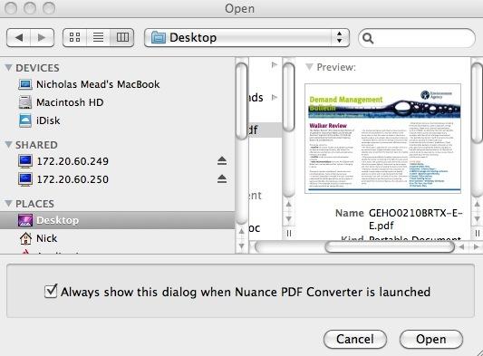 Capture d'écran PDF Converter