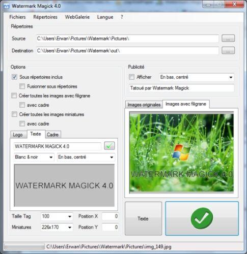 Capture d'écran Watermark Magick