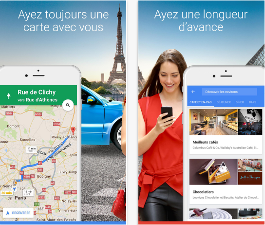 Capture d'écran Google Maps iOS