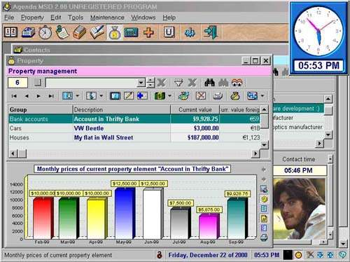 Capture d'écran MSD Organizer