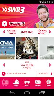 Capture d'écran SWR3 Radio