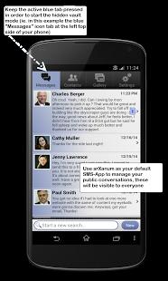 Capture d'écran Hide SMS Hide Messages Texting