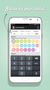 Capture d'écran Calcul Soldes Android