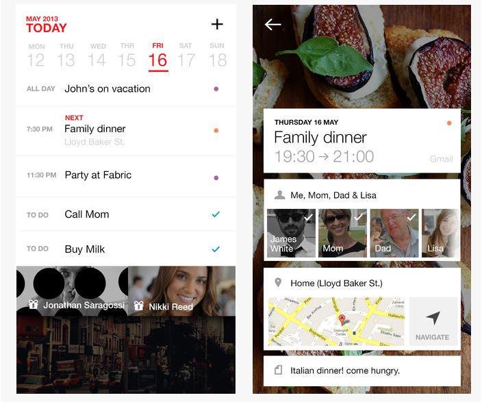 Capture d'écran Cal iOS
