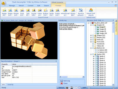 Capture d'écran Flash Decompiler Trillix