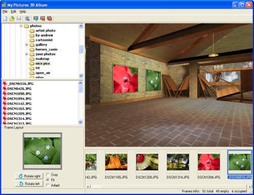 Capture d'écran My Pictures 3D Album