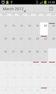 Capture d'écran Calendar from Android 4.4