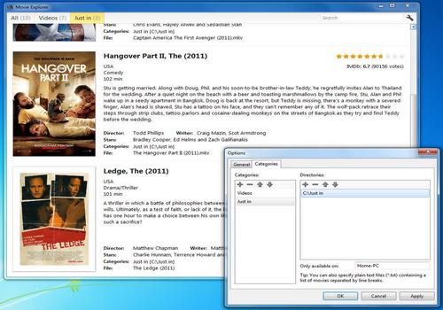 Capture d'écran Movie Explorer