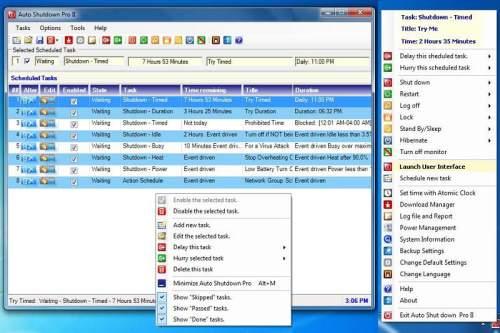 Capture d'écran Auto Shutdown Pro II