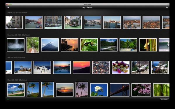 Capture d'écran Adobe Revel