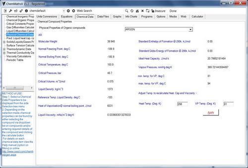 Capture d'écran ChemMaths