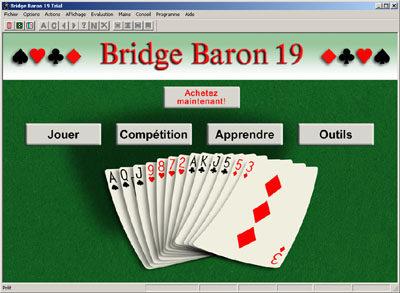 Capture d'écran Bridge Baron for Windows (Français)