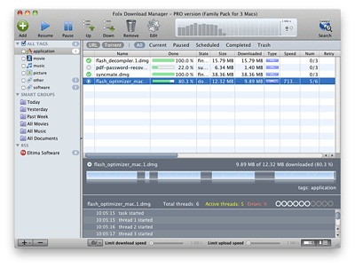 Capture d'écran Folx Mac