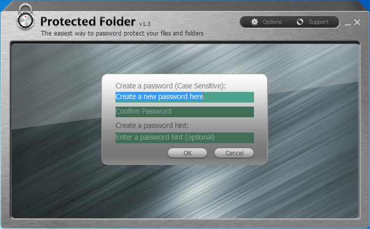 Capture d'écran Protected Folder