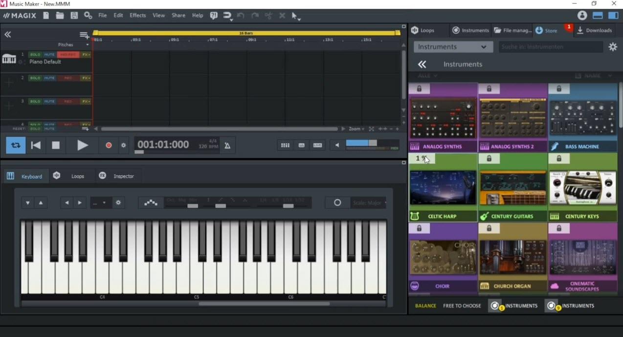 Capture d'écran MAGIX Music Maker