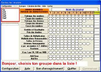 Capture d'écran Calculons de Tête