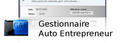 Capture d'écran Gestionnaire Auto Entrepreneur
