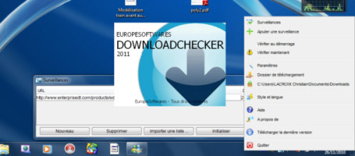 Capture d'écran DownloadChecker Linux