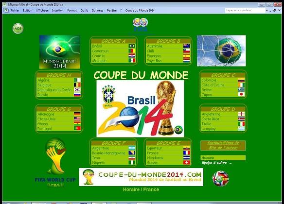 Capture d'écran Coupe du Monde 2014