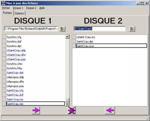 Capture d'écran SYNCHRO