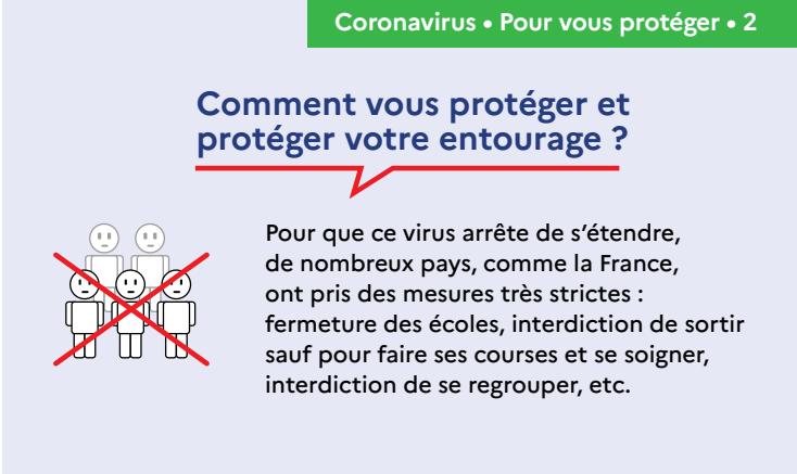 Capture d'écran Affiche prévention Coronavirus – Comment se protéger ?
