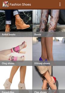 Capture d'écran Mode Chaussures Idées