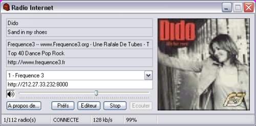 Capture d'écran Radio Internet