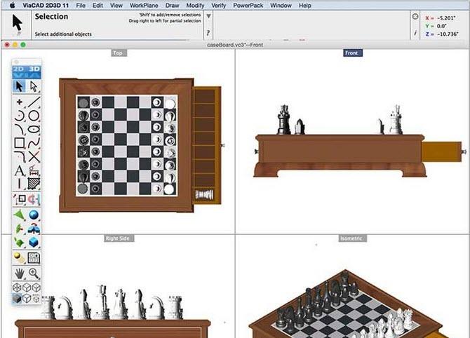 Capture d'écran ViaCAD 2D/3D Mac