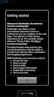 Capture d'écran NeoReader QR
