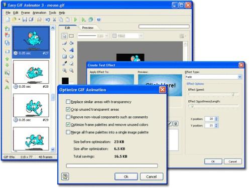 Capture d'écran Easy GIF Animator