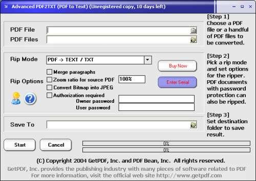 Capture d'écran Advanced PDF2TXT (PDF to Text)