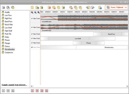 Capture d'écran AVS Music Mix