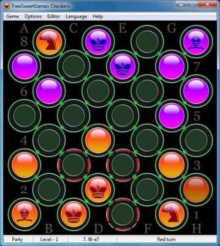 Capture d'écran FreeSweetGames Cheskers