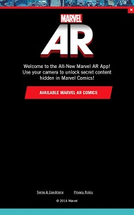 Capture d'écran Marvel AR