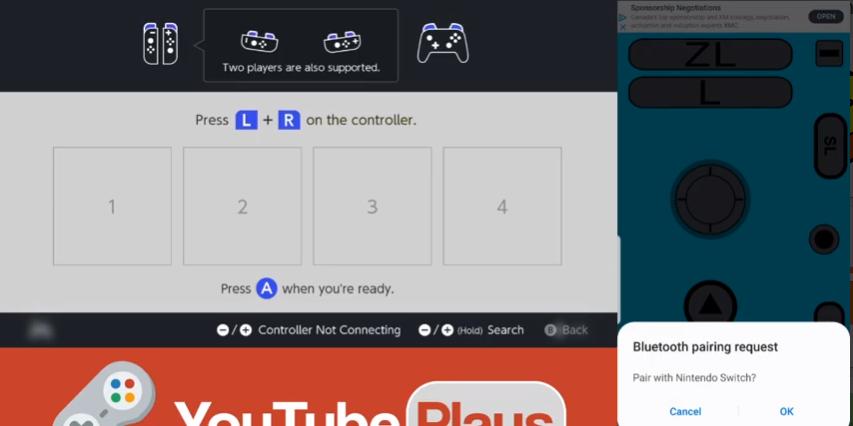 Capture d'écran Joycon Droid
