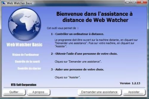 Capture d'écran Web Watcher