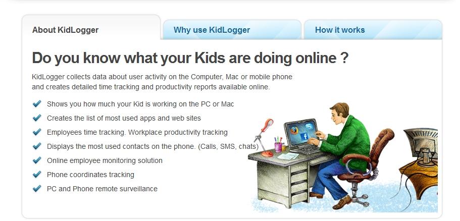 Capture d'écran KidLogger