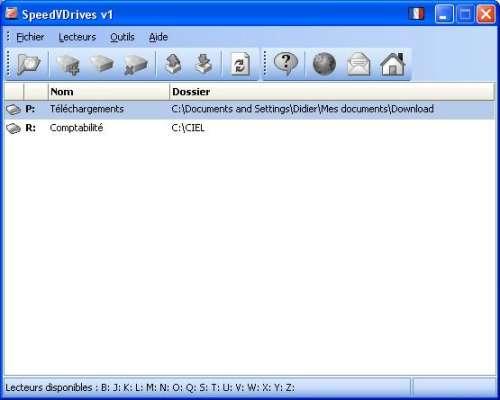 Capture d'écran SpeedVDrives