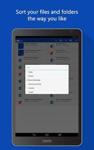 Capture d'écran OneDrive