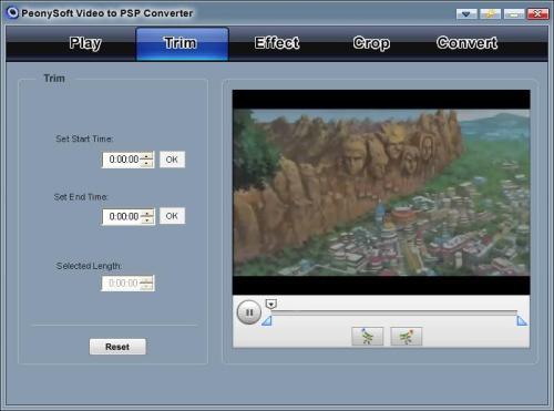 Capture d'écran PeonySoft PSP Converter