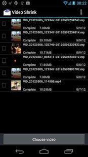 Capture d'écran Vidéo Shrink